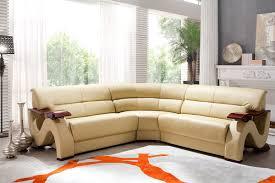 No Furniture Living Room Modern Bonded Leather Sofa Set Furniture In Beige 16236