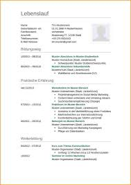 Ausbildung Lebenslauf Vorlage Reimbursement Format