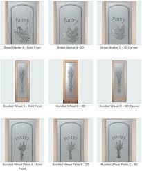 decorative glass pantry doors or inserts custom