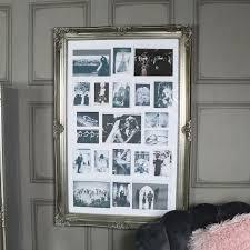 large ornate antique silver multi photograph frame