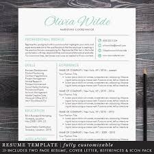 Creative Resume Templates For Mac Fascinating Creative Resume Template Creative Professional Resume Template For