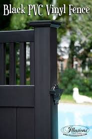 black vinyl privacy fence. Incredible Black Craftsman Style PVC Vinyl Privacy Pool Fence Idea From Illusions Is A