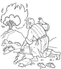 Baby Moses Coloring Pages The Incredible Moses Burning Bush Coloring