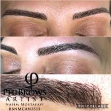 photo of nasim permanent makeup west vancouver bc canada microblading eyebrows