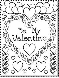 Valentine Coloring Valentine Coloring Page Printable