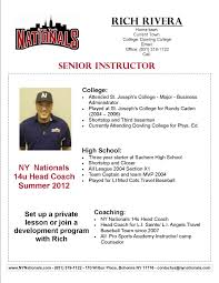 Baseball Coach Resume Examples Templates Strength And Conditioning