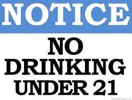 Drinking 21 Sign Under Printable No