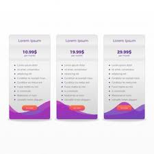 Pricing Template Pricing Table Vectors Photos And Psd Files Free Download