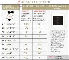 Size Chart Perfect Fit Waist Cinchers Ursulabodyshapers Com
