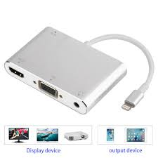 iphone to hdmi. lighting to hdmi vga cable for iphone audio tv av adapter +usb iphone hdmi