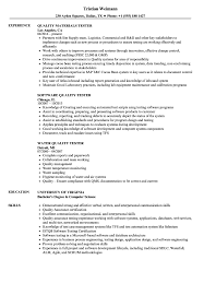 Software Tester Resume Sample Quality Tester Resume Samples Velvet Jobs 20