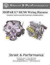 mopar 5 7 hemi wiring harness street & performance hemi swap wiring harness Hemi Wiring Harness #20