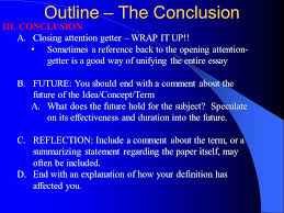 extended definition essay ppt  15 outline the conclusion closing attention getter