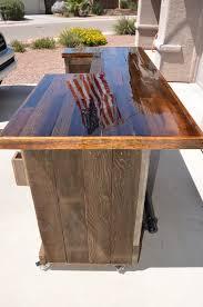 diy outdoor bar sets. gorgeous pallet wood rolling bar diy outdoor sets s
