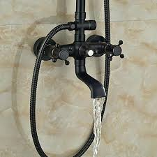 bronze shower faucet vintage style antique shower bathroom shower set bronze shower mixer blue and white bronze shower faucet shower faucet