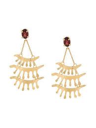 wouters hendrix in mood for love garnet chandelier earrings metallic