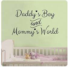 Small Picture Amazoncom 24 Daddys Boy and Mommys World Wall Decal Sticker