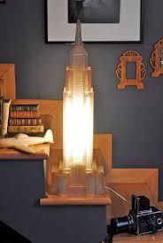 New York, Empire State Building, desk lamp, floor lamp, vintage 80s,