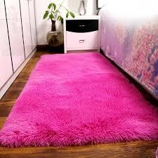 Fluffy Rugs Anti Skiding Shaggy Area Rug Dining Room Carpet Floor Mats Hot  PK Shaggy