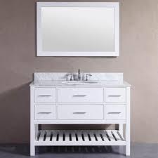 white bathroom vanity 48 inch. Simple Bathroom 48inch Belvedere White Bathroom Vanity With Marble Top And Backsplash To 48 Inch D