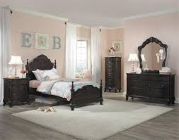 cinderella collection youth bedroom in dark cherry finish