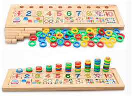Kids wooden math toy montessori educational science tos for kids baby 3 year old preschool brinquedos learning toys pattern っKids ③