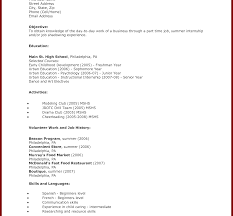 High School Student Resume Templates Microsoft Word Free Student Resumeate And Professional High School Pdf Format 81