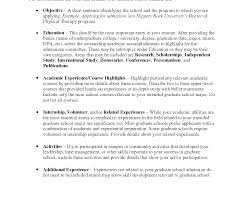 Objective For Graduate School Resume Nurse Resume Objectives Samples Registered Example Fearsome Grad 23