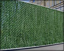 Brilliant Chain Link Fence Slats Green With Decorating Ideas