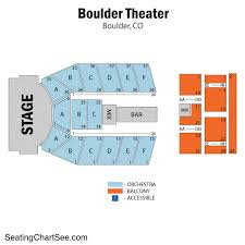 Boulder Theater Seating Chart 35 Rational Seating At The Fox