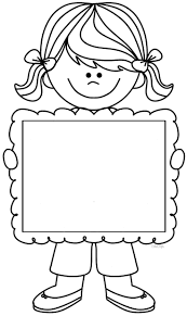 Cute Girl Clipart Holding Frame There