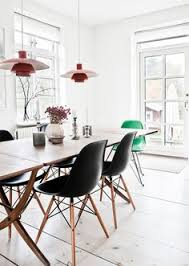 kitchen inspiration dining area with charles eames inspired dining chairs a bauhaus clic
