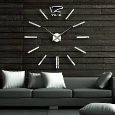 designer large wall clocks bedroom decor tips decorating ideas inch font modern mirror clock diy paint