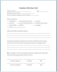 free employee warning forms employee warning notice template employee warning notice template co