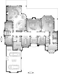 southwestern house plan first floor 032d 0666 house planore