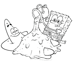Printable Coloring Pages Spongebob Trustbanksurinamecom