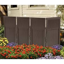 outdoor privacy screen panels fence resin wicker enclosure divider patio for