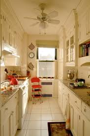 White Country Galley Kitchen White Galley Kitchen With Country