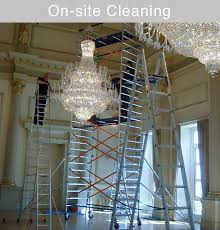 onsite chandelier cleaning services