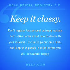 bridal registry tip 3 belk
