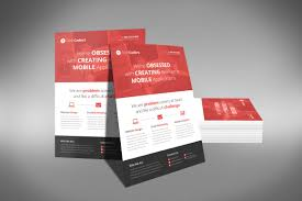 Flat Design Flyer A Professional And Free Flat Design Corporate Flyer Psd