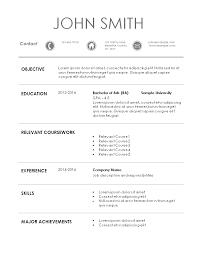 Resume Template For Internship Internship Resume Template