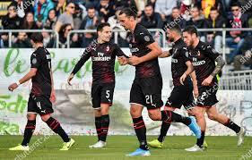 Zlatan Ibrahimovic AC Milan celebrates after scoring ...