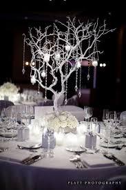 branch and jewel centerpieces | Jewel winter wedding centrepiece | Table  Decor & Centrepieces