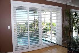 image of shutters for sliding glass doors exterior