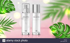 Cosmetic Label Design Template Cosmetics Cream Moisturizer Hydration Vector Realistic
