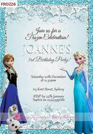 Frozen Birthday Invitations Disney Frozen Anna Elsa Birthday Party Personalised Invitations Cards Invites