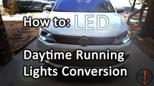 2014 Vw Jetta Daytime Running Lights How To Daytime Running Lights To Led Vw Jetta Mk6