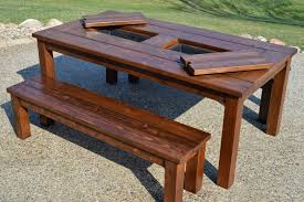 Table Drinks Cooler Remodelaholic Building Plans Patio Table With Built In Drink