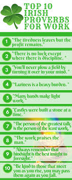 Top 10 Irish Work Proverbs Infographic Your Worklife Bliss